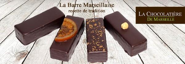 C'est une vaste sélection de Barre Marseillaise® qui attend les gourmands à la Chocolatière de Marseille.